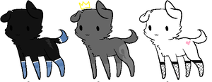 1 Point Puppies Adoptables! by KateResident