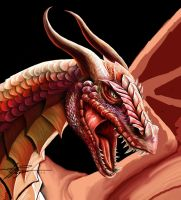 Dragon Head Detail by Blackthorn-Studios