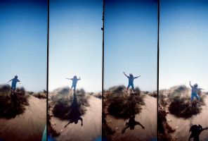 Lomography: Caleb Jumping by AliArnold