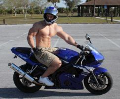 Hot Motorcycle Rider by Stonepiler