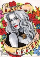 Lady Death sketch card by CassandraJames