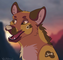 Punk african wild Dog by WoolNoon