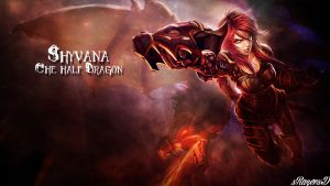 LoL - Ironscale Shyvana Wallpaper ~xRazerxD by xRazerxD