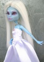 Monster High abbey custom ooak winter beauty doll by AdeCiroDesigns
