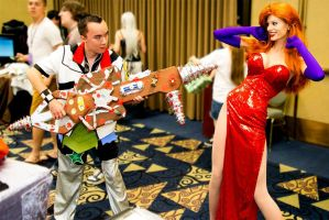 Me As Ventus Vs Jessica Rabbit by Roxas-Ven-Cosplayer