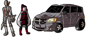 113420 Commission: Mike, Eve, and Mystical Minivan by MichaelJLarson