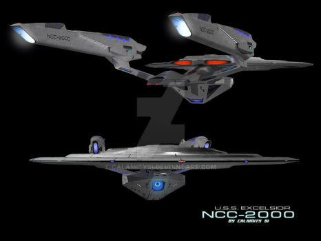 USS Excelsior (Kelvin Timeline) 4 by calamitySi