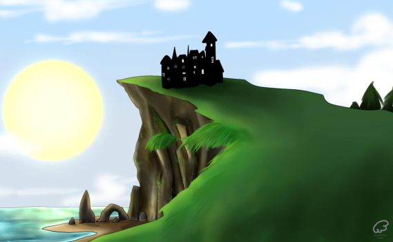 House By The Cliff by lucalucario