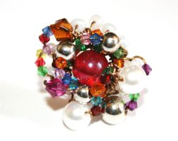 Vintage Bead Medley Ring by FranyaBlue