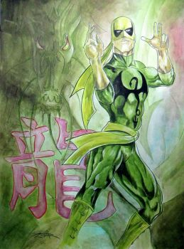 Iron Fist HeroesCon Art Auction by psdguy