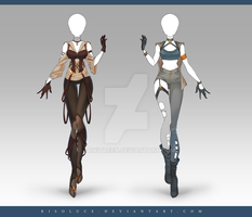 (CLOSED) Adoptable Outfit Auction 210 - 211 by JawitReen