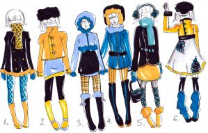 Winter outfits for your OC -CLOSED- by bejja