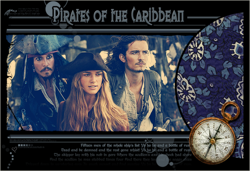 Wall Pirates of the Carribean by CreativeSDf