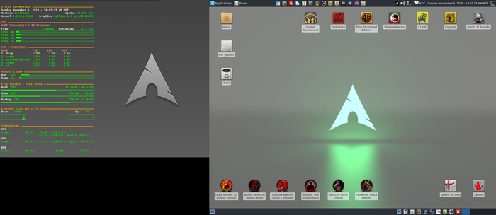 November 2016 Desktop - Arch Linux and Xfce by hamishpaulwilson