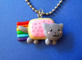 Nyan Cat Necklace by mAd-ArIsToCrAt