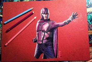 Magneto X-MEN DoFP Polychromos drawing by Reikii-7
