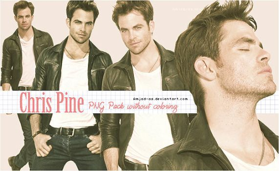Chris Pine PNG pack by Amjad-AS