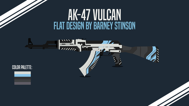 AK-47-Vulcan Flat Design by BarneyDesign
