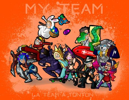 My LoL Team by CaptaineNyx