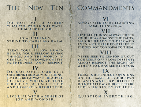 The New Ten Commandments by MitchellLazear