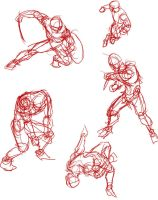 action gestures sheet by SilverKitty000