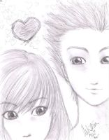 Portrait: Mai nd her Boyfriend by bommie