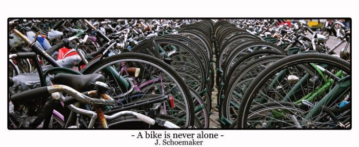 A bike is never alone by Jna1985