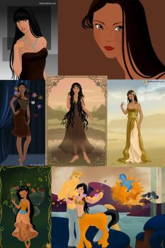The Many Faces Of Pocahontas by ZeldaQueen64