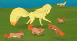 PDC 40: Ninetales Dimorphism by pandemoniumfire