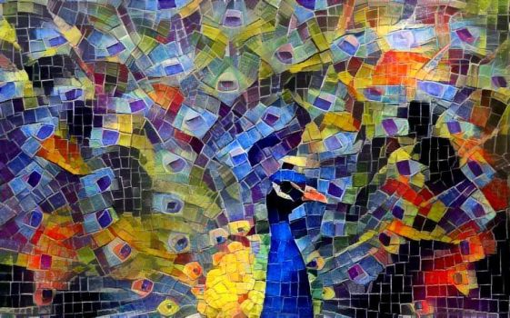 Peacock mosaic by Aurora-Alley