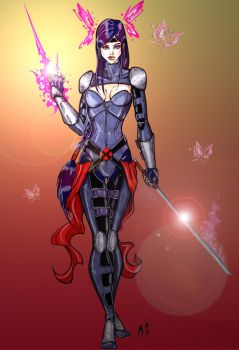 Psylocke Redesign by CrimsonArtz