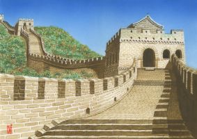 Great Wall of China by toniart57