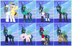 The Many Looks of Queen Chrysalis by PixelKitties