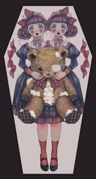 Conjoined twins  and Broken bear by Rin54321