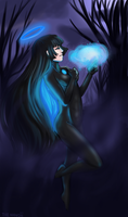 In the Dead of Night She is the Light by themandii