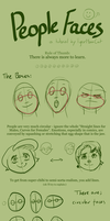 A (Really Brief) Guide to People Faces by TigerMoonCat