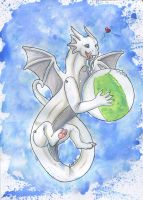 Inflatable Dragon has a Ball! by Ariade