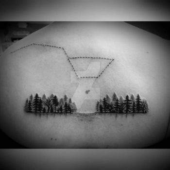 Forest and Dipper Tattoo by Ladyknight17