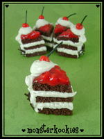 Black Forest Cake Charms by monsterkookies