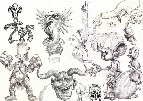 Sketches and Doodles 15 by phoebus-chango