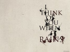 I think of you when it rains by NTSD-Applejuice