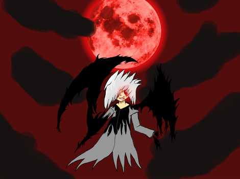 Dark Flame and The Blood Moon by steven1352