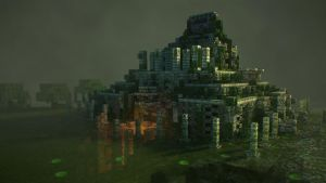 Mayan Temple 3D Model by soongpa