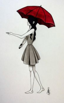 The Red Umbrella by Kyraaah