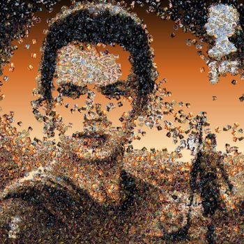 Rey photo mosaic by Mosaikify