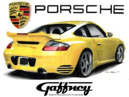 Colored Pencil Porsche by theGaffney