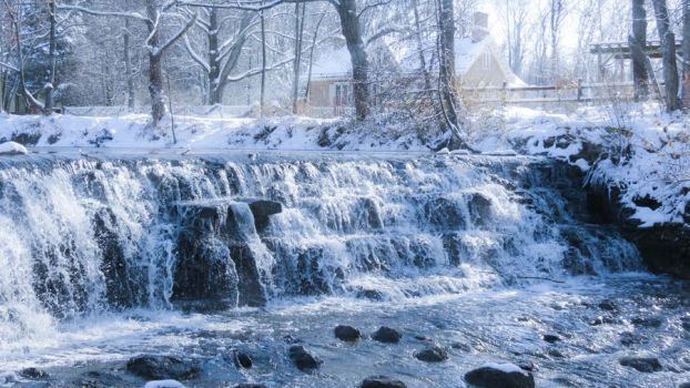 Winter Falls by Ravenfiendstock