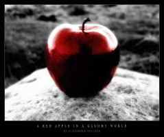 A red apple in a gloomy world by DarkMetaphor
