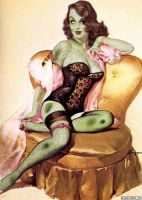 Zombie pinup by Ferrari28