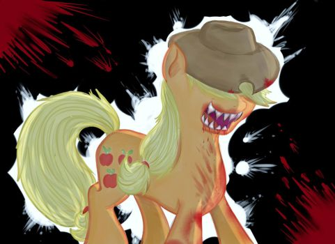 Demon Applejack by anname219